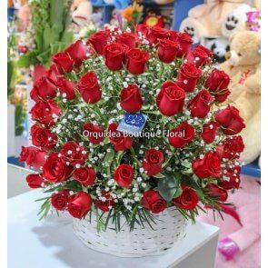 Canasta de 100 Rosas