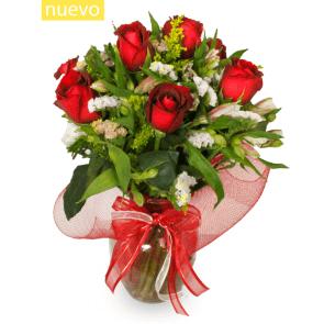 Jarrón 8 Rosas