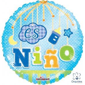 """Globo Metálico 18"""" - Es Niño"""
