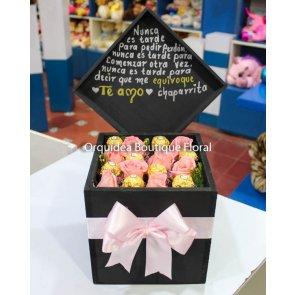 Caja de 8 Rosas y 8 Ferreros