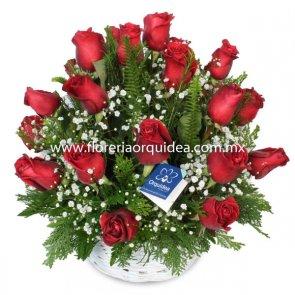 Canasta Vintage de Rosas